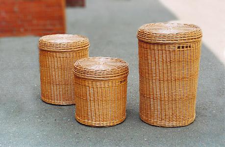 Плетеные корзины из лозы - купить в.